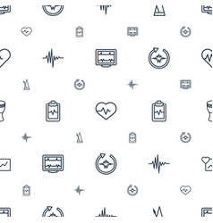 Beat icons pattern seamless white background vector