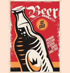 beer pub poster design vector image