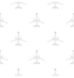 big plane pattern flat vector image
