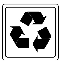 Black recycle sign vector image