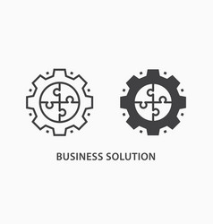 business solution icon on white background vector image