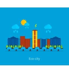 City landscape Environmentally friendly house vector image