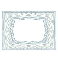 Decorative rectangular frame vector image