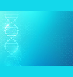 Dna background medical texture with molecular vector