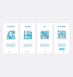 dna chromosome research biotechnology ux ui vector image