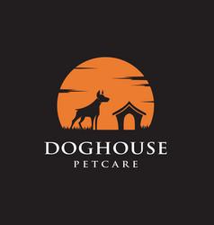 dog house logo design inspiration vector image