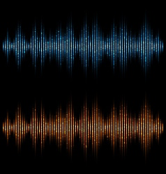 equalizer sound waves Music Digital Equalizer vector image