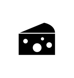 flat cheese icon vector image