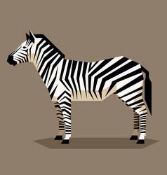 flat geometric zebra vector image