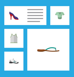flat icon dress set of singlet heeled shoe vector image