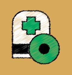 Flat shading style icon otolaryngologist vector