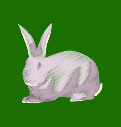 Flat shading style icon rabbit vector