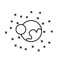 Flat style planet pluto and charon in front vector