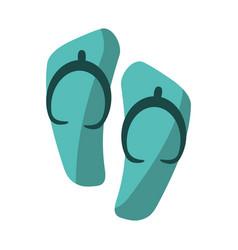 Flip flop sandals beach vector