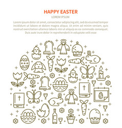 flyer easter with your text vector image