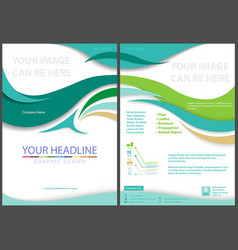 flyer template with waved stripes vector image