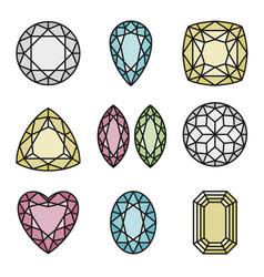 gems cut design vector image