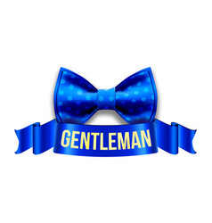 gentleman label design blue ribbon vector image