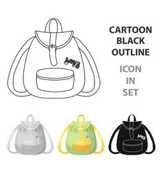 green hippy backpackhippy single icon in cartoon vector image