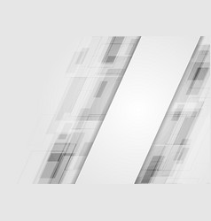Grey abstract technology background vector