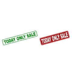 Grunge today only sale rubber prints with rounded vector