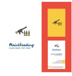 guns creative logo and business card vertical vector image