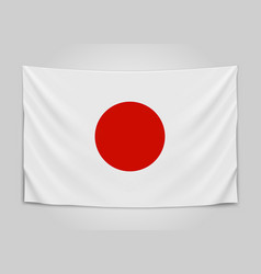 Hanging flag of japan japan japanese national vector