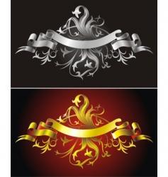 heraldic backgrounds vector image vector image