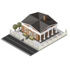 isometric house vector image