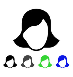 Lady face template flat icon vector