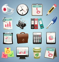 office equipment icons set1 1 vector image