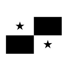 panama flag black and white country national vector image
