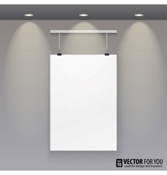 pattern paper poster picture frame to the wall vector image