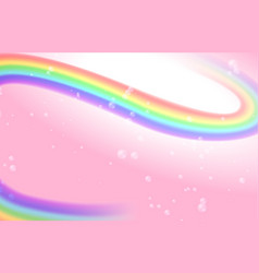 pink background with rainbow mesh and vector image