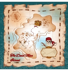 Pirates treasure map vector image