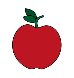 Red whole apple icon image vector
