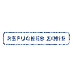 Refugees zone textile stamp vector