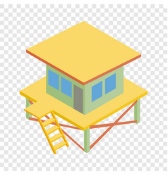 rescue tower isometric icon vector image