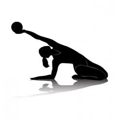 rhythmic gymnastics vector image