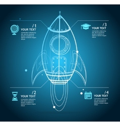rocket infographic vector image
