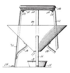 Roost funnel vintage vector