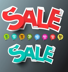 Sale Tags and Discount Labels Set vector image