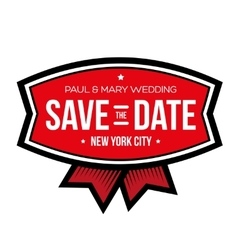 Save the date lettering vintage vector
