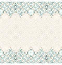 Seamless border ornate in eastern style vector