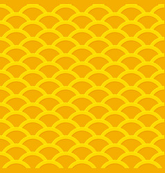 seamless yellow wavy pattern from golden coins vector image