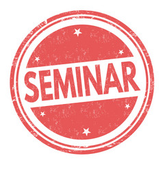 Seminar sign or stamp vector