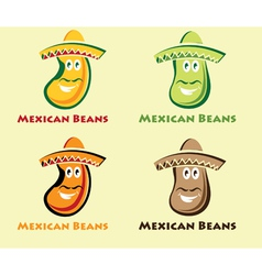 Set of mexican beans vector