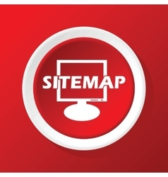 Sitemap icon on red vector
