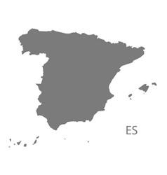 spain map grey vector image