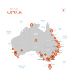 stylized australia map vector image